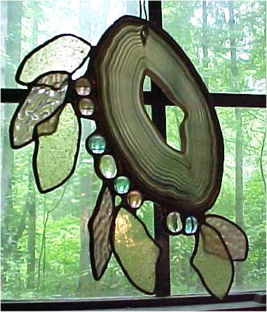 Medicine Staff - stained glass sculpture