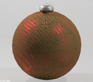 xmas ball rendered